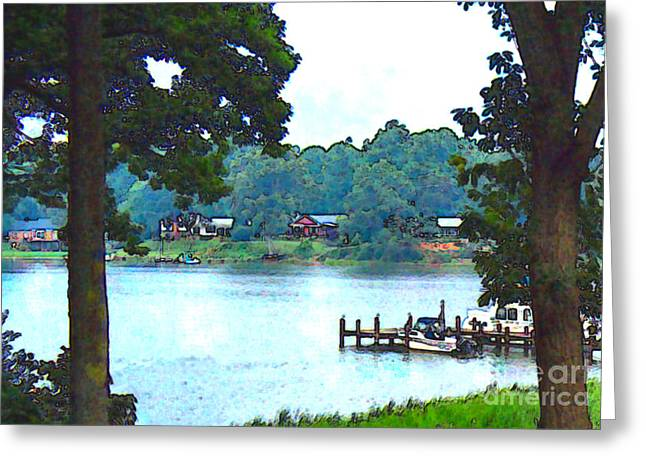 Elinor Mavor Greeting Cards - View from the Deck Greeting Card by Elinor Mavor
