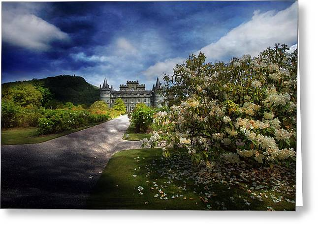 Inverarary Castle Greeting Cards - View from the Garden Greeting Card by Roy  McPeak