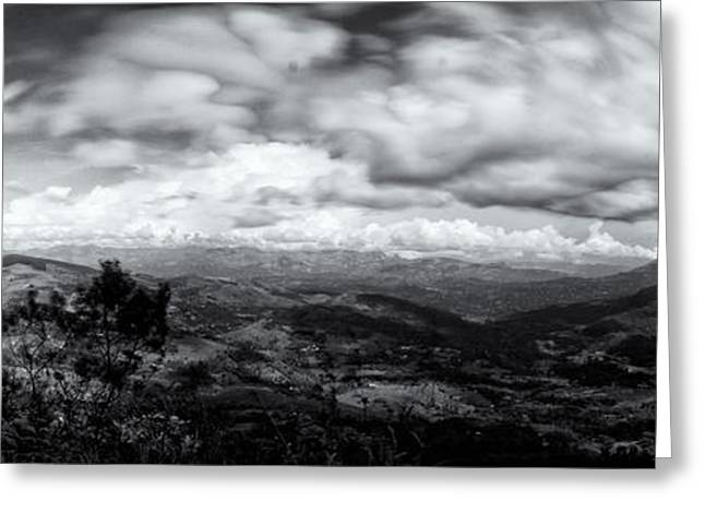 Print On Canvas Greeting Cards - View From the James Taylor Seat  Panorama  Greeting Card by Venura Herath