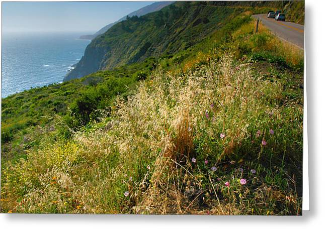 View From the Pacific Coastal Highway Greeting Card by Steven Ainsworth