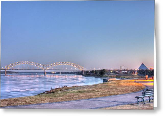 Historic Bridge Photographs Digital Greeting Cards - View from the Park Greeting Card by Barry Jones