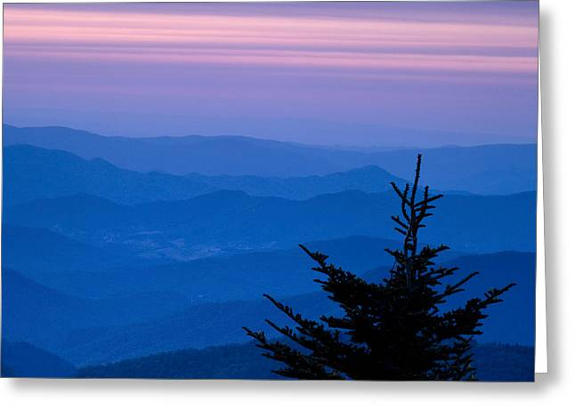 Blue Ridge Parkway Greeting Cards - View from the Top Greeting Card by Andrew Soundarajan
