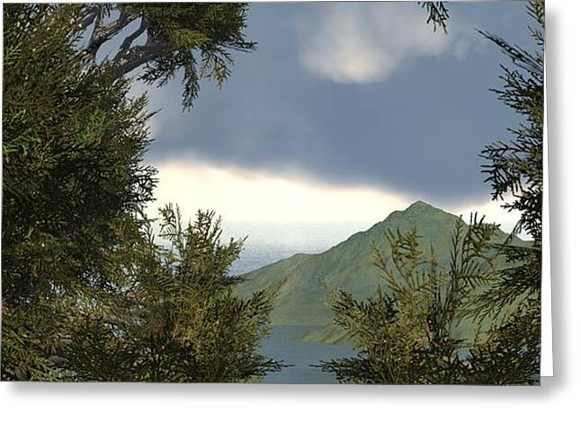 Highup Greeting Cards - View from the trees Greeting Card by John Pirillo