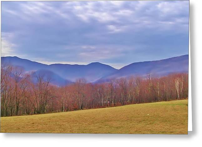 Stowe Greeting Cards - View From Von Trapps Lodge 2 Greeting Card by Bill Cannon