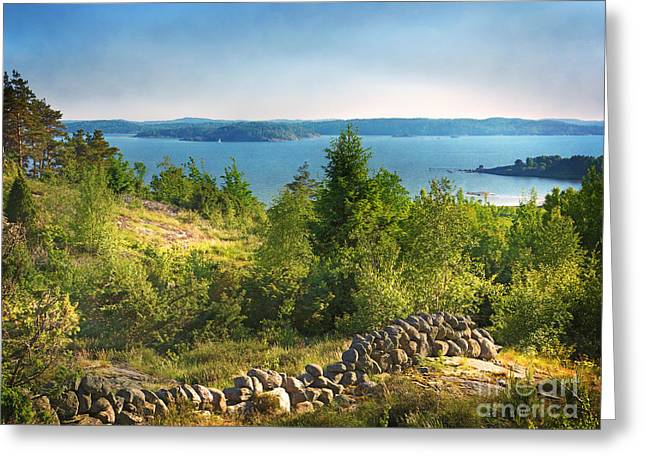Sea View Greeting Cards - View Greeting Card by Lutz Baar