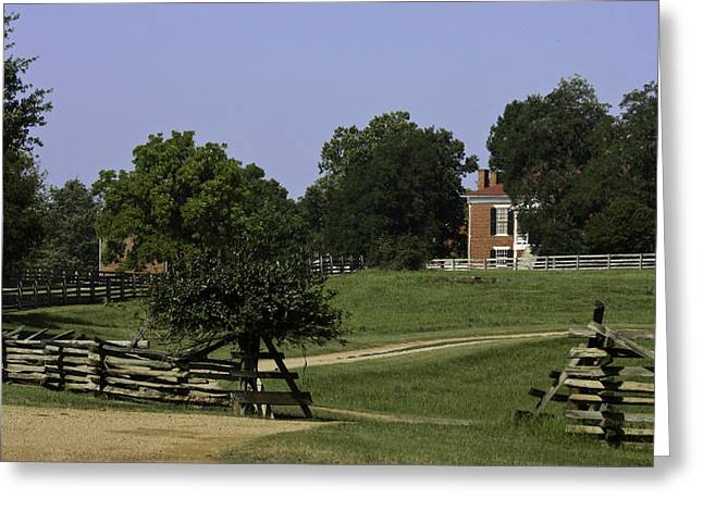 Richmond-lynchburg Stage Road Greeting Cards - View of Appomattox Courthouse 1 Greeting Card by Teresa Mucha