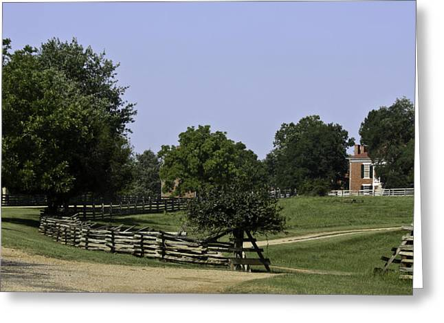 April 9 1865 Greeting Cards - View of Appomattox Courthouse 2 Greeting Card by Teresa Mucha
