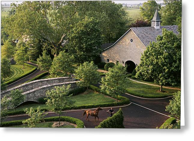 Farmers And Farming Greeting Cards - View Of Barn And Grounds Of Ashford Greeting Card by Melissa Farlow