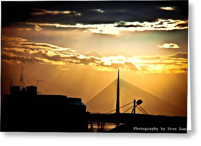 View Of Belgrade Greeting Card by Uros Zunic