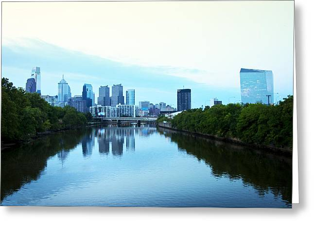 Liberty Place Greeting Cards - View of Center City Philadelphia from the Schuylkill River Greeting Card by Bill Cannon