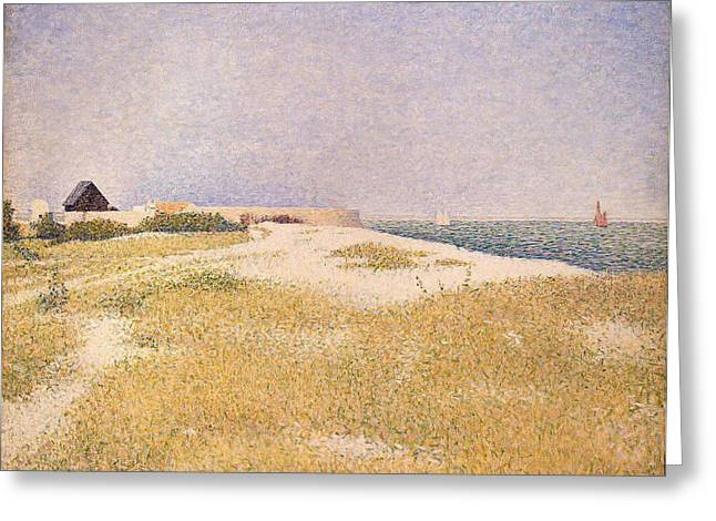 Seurat Paintings Greeting Cards - View of Fort Samson Greeting Card by Georges Pierre Seurat