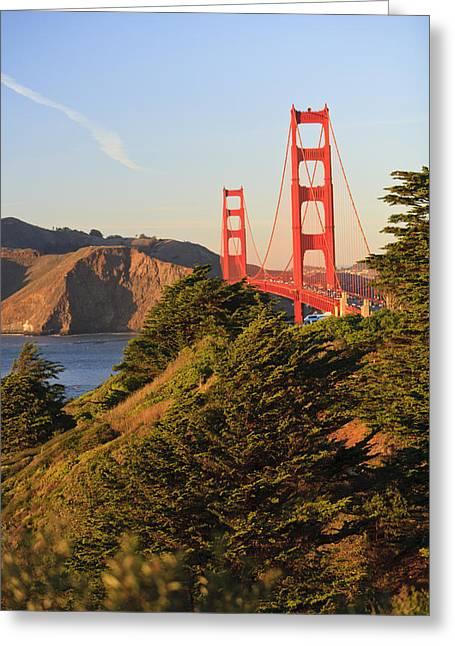 View Of Golden Gate Bridge San Greeting Card by Stuart Westmorland