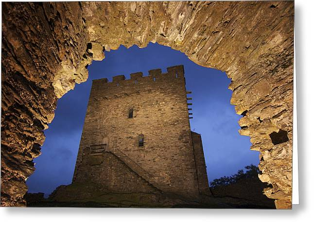 View Of Medieval Dolwyddelan Castle Greeting Card by Jim Richardson
