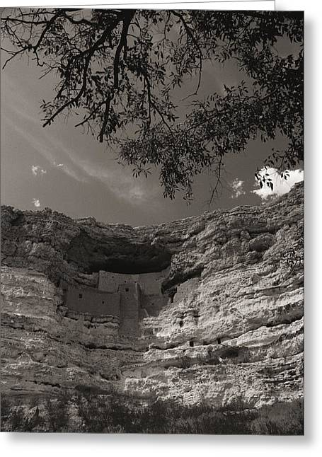 Sinagua Greeting Cards - View Of Montezuma Castle Greeting Card by Todd Gipstein