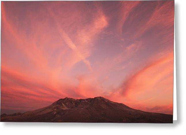 Volcanoes And Volcanic Action Greeting Cards - View Of Mount Saint Helens Showing New Greeting Card by Steve And Donna O