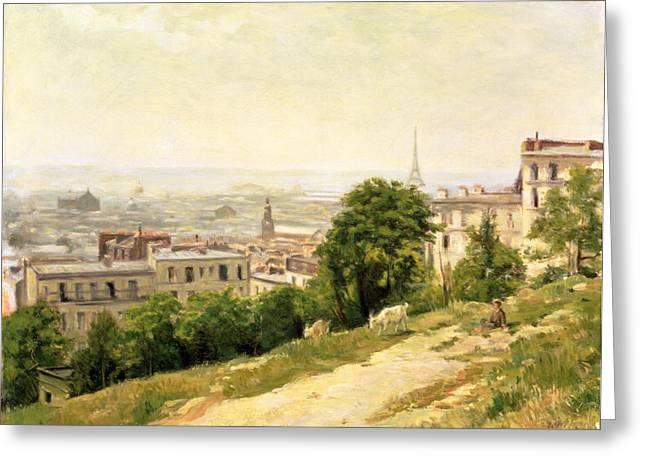 View of Paris Greeting Card by Stanislas Victor Edouard Lepine