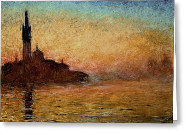 Impressionism Greeting Cards - View of San Giorgio Maggiore Greeting Card by Claude Monet