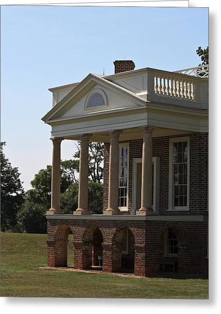 View Of South Portico At Poplar Forest Greeting Card by Teresa Mucha