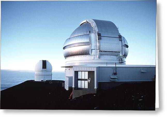 Telescope Domes Greeting Cards - View Of The Gemini Telescope Dome On Mauna Kea Greeting Card by Magrath Photography