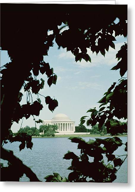 1874 Greeting Cards - View of the Jefferson Memorial Greeting Card by John Russell Pope