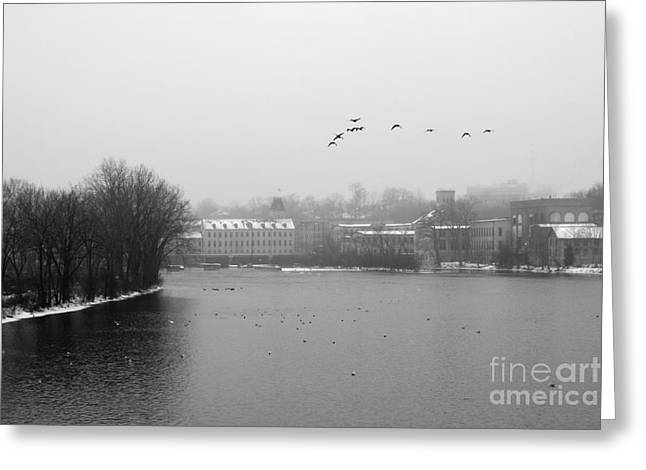 Fox River Greeting Cards - View of the Mills Greeting Card by Joel Witmeyer