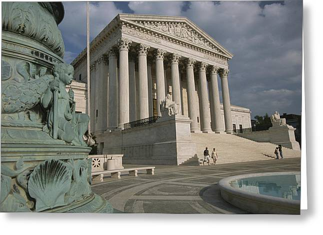 Art Of Building Greeting Cards - View Of The United States Supreme Court Greeting Card by Richard Nowitz
