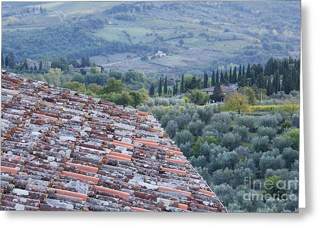 Chianti Greeting Cards - View of the Val DOro From Rooftop Greeting Card by Jeremy Woodhouse