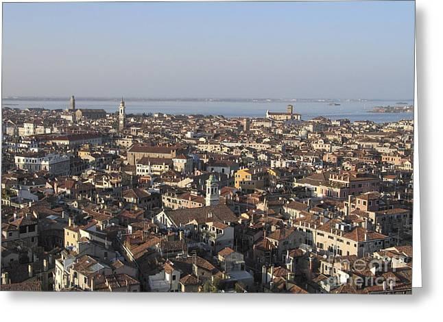 Vue Greeting Cards - View of Venice Greeting Card by Bernard Jaubert