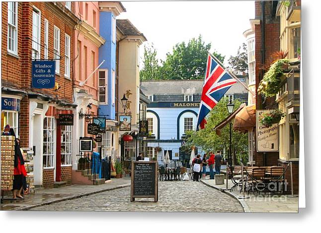 Windsor Chair Greeting Cards - View of Windsor Village Greeting Card by Susan Holsan