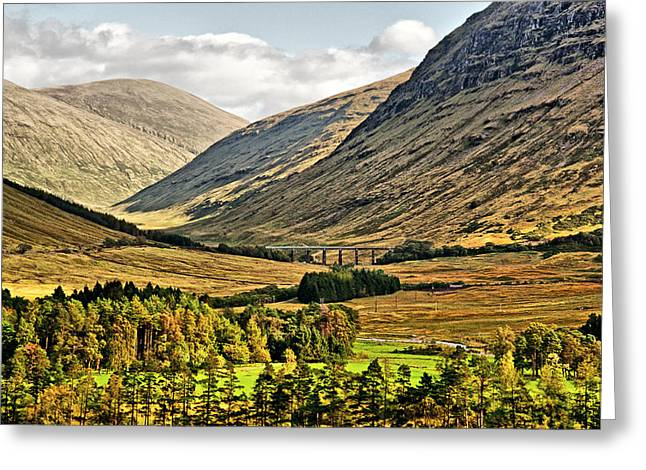 Rannoch Moor Greeting Cards - View over Rannoch Moor 2 Greeting Card by Chris Thaxter
