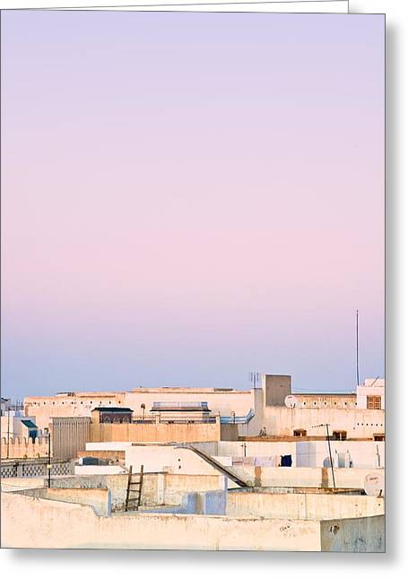 African Heritage Greeting Cards - View Over Rooftops Kairouan, Tunisia Greeting Card by David DuChemin