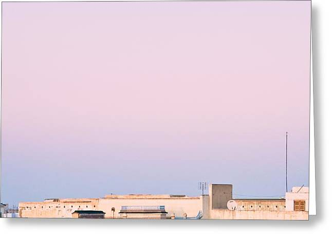 View Over Rooftops Kairouan, Tunisia Greeting Card by David DuChemin