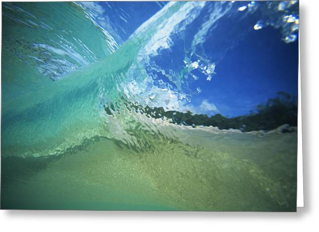 Vince Greeting Cards - View through Wave Greeting Card by Vince Cavataio - Printscapes