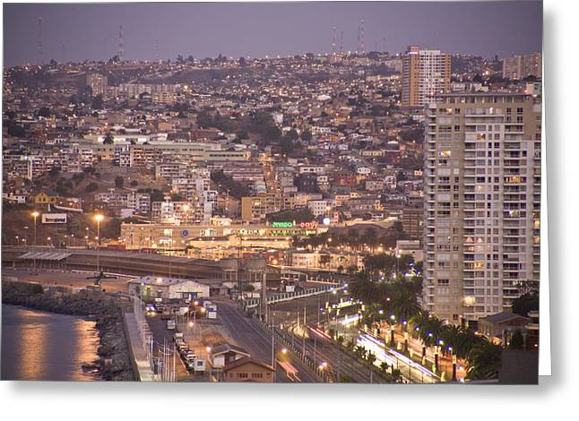 Views From Paseo Atkinson, On Cerro Greeting Card by Richard Nowitz