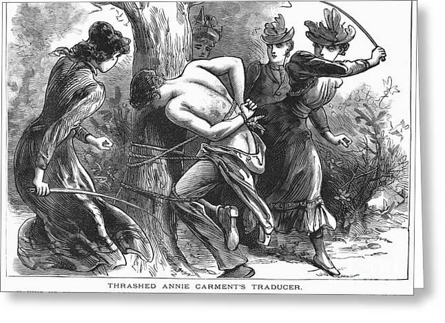 Vigilantes Greeting Cards - Vigilantes, 1893 Greeting Card by Granger