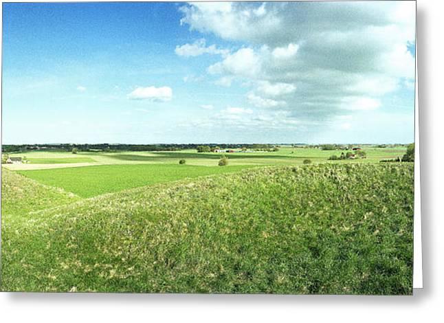 Mound Greeting Cards - Viking Burial Mounds Greeting Card by Jan Faul
