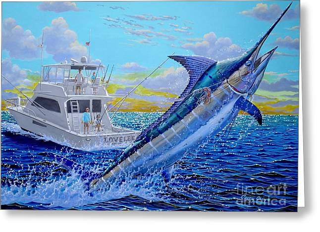 Reef Fish Greeting Cards - Viking Marlin Greeting Card by Carey Chen