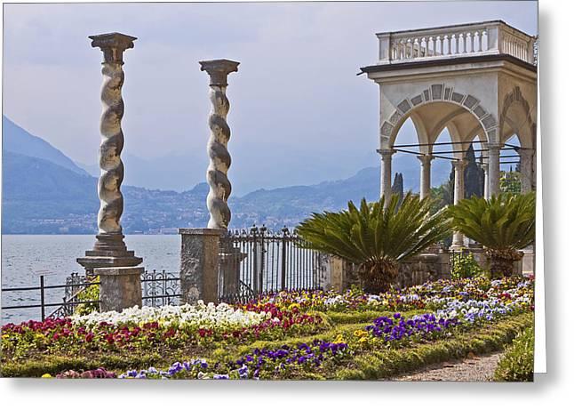 Paradise Pier Greeting Cards - Villa Monastero - Varenna - Lago di Como Greeting Card by Joana Kruse