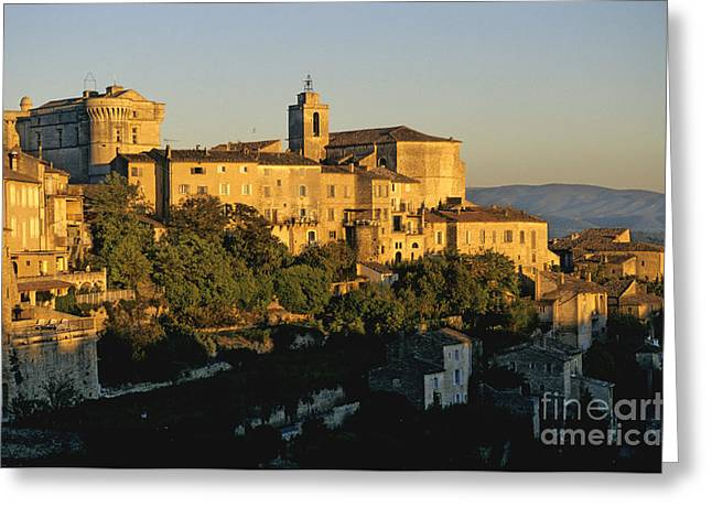 South Of France Photographs Greeting Cards - Village de Gordes. Vaucluse. France. Europe Greeting Card by Bernard Jaubert