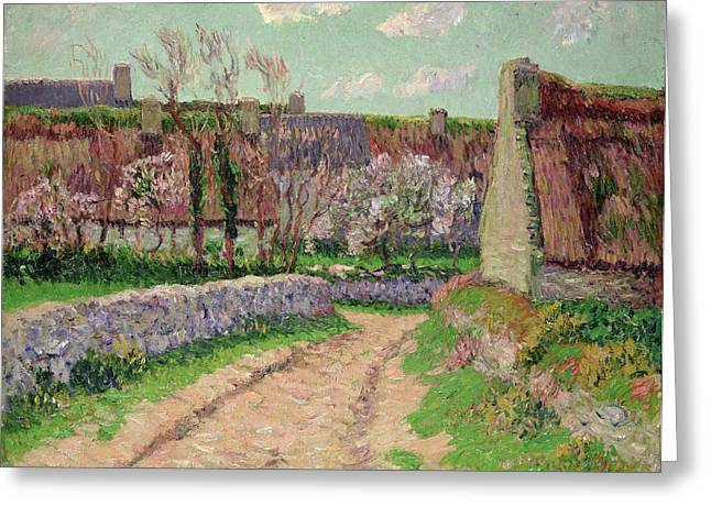 Thatch Greeting Cards - Village in Clohars Greeting Card by Henry Moret