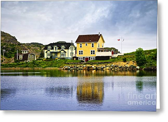 Fishing Village Greeting Cards - Village in Newfoundland Greeting Card by Elena Elisseeva