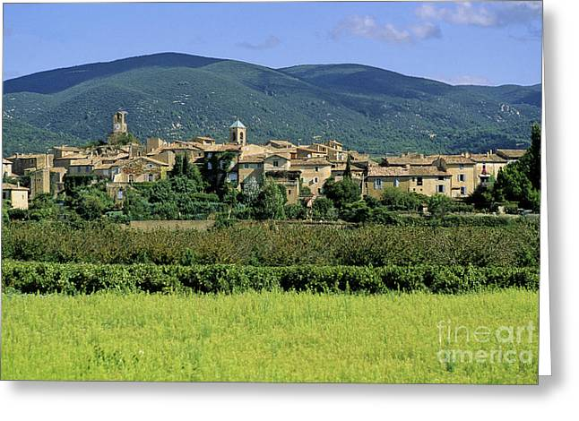 Village of Lourmarin. Luberon. Vaucluse Greeting Card by BERNARD JAUBERT