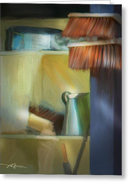 Water Jug Greeting Cards - village shop Ireland Greeting Card by Bob Salo