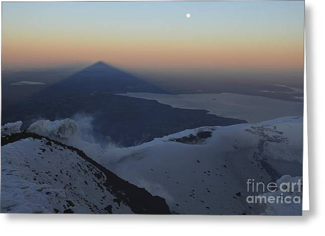 Villarrica, Summit View With Shadow Greeting Card by Martin Rietze