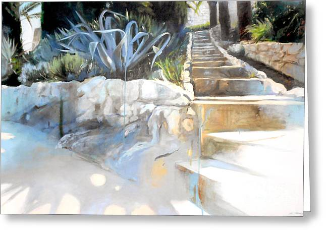 Sud Greeting Cards - Villefranche Garden Greeting Card by Lin Petershagen