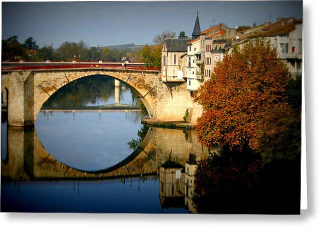 """south West France"" Greeting Cards - Villeneuve sur Lot Greeting Card by Nomad Art And  Design"
