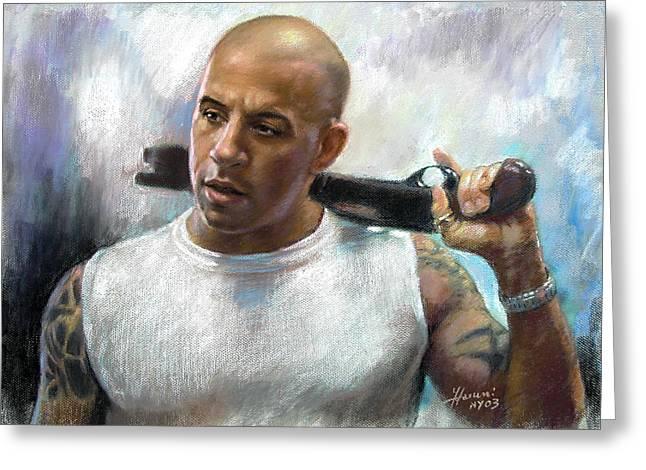 Vin Diesel Greeting Card by Ylli Haruni