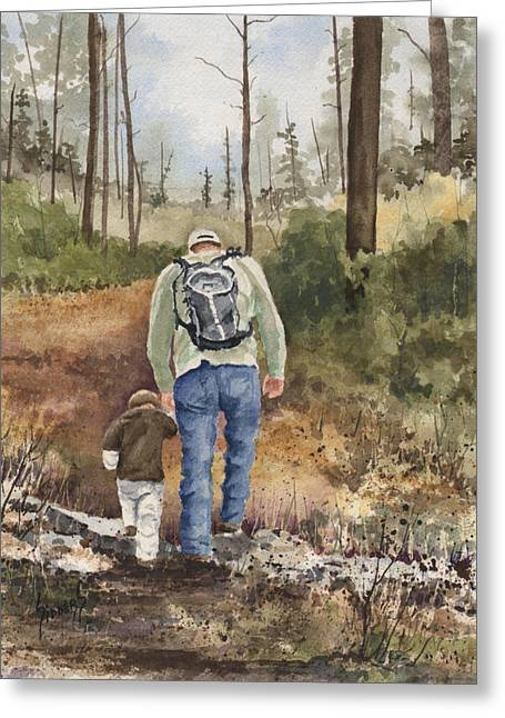 Walk Greeting Cards - Vince and Sam Greeting Card by Sam Sidders