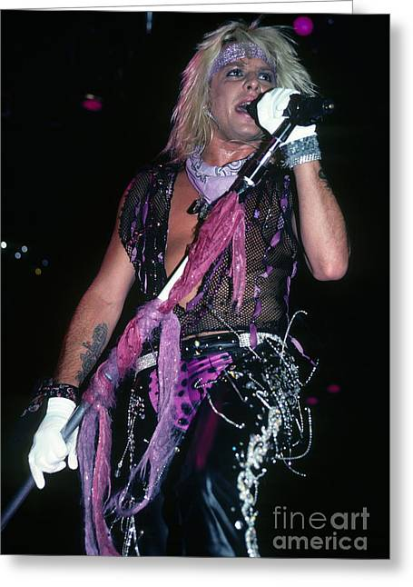 Vince Greeting Cards - Vince Neil  Greeting Card by Rich Fuscia