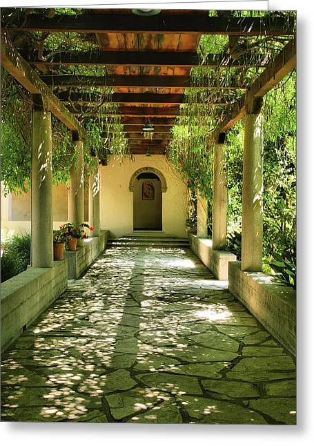 Vine Covered Walkway Greeting Card by Steven Ainsworth